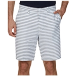 Nautica Mens Striped Casual Chino Shorts