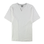 Alfani Mens Split Neck Henley Shirt