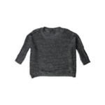 BCBG Womens Fuzzy Pullover Sweater