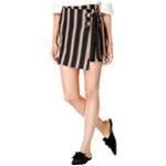 J.O.A. Womens Striped Wrap-Front Mini Skirt