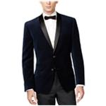 bar III Mens Velvet with Satin Two Button Blazer Jacket