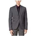 bar III Mens Check Two Button Blazer Jacket