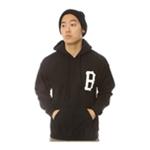 Black Scale Mens The B Logo Pullover Hoodie Sweatshirt