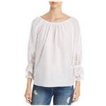Le Gali Womens Eyelet Pullover Blouse