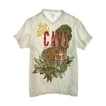CAVI Mens Into The Wild Screen Print Graphic T-Shirt