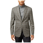 Tommy Hilfiger Mens Grid Two Button Blazer Jacket