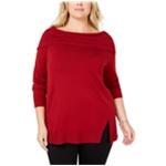 525 America Womens Wide Collar Pullover Sweater