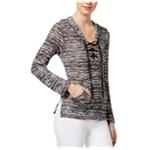 Chelsea Sky Womens Knit Hoodie Sweatshirt