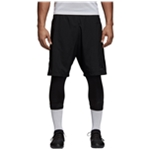 Adidas Mens Tango 2-in-1 Athletic Workout Shorts