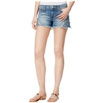 Joe's Womens The Cutoff Patched Casual Denim Shorts