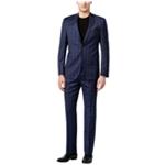 DKNY Mens Slim-Fit Tonal Plaid Two Button Formal Suit