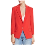 Dylan Gray Womens Faux Pocket One Button Blazer Jacket