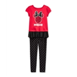 Disney Girls 2-Piece Minnie Graphic T-Shirt