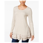 Style&co. Womens Lace-Inset Pullover Sweater