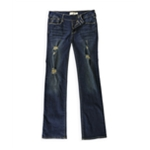 Bullhead Denim Co. Womens Destroyed Boot Cut Jeans