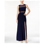 Nightway Womens Illusion Gown Dress