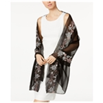 I-N-C Womens Embroidered Wrap