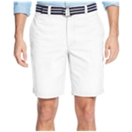 Club Room Mens Flat Front With Belt Casual Chino Shorts
