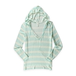Aeropostale Womens Striped Hooded Sweater