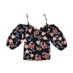 Rachel Roy Womens Floral Knit Blouse