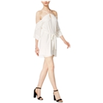 bar III Womens Lace-Applique Off-Shoulder Dress