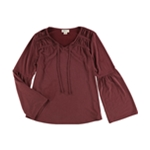 Style & Co. Womens Bell Sleeve Peasant Blouse