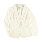 bar III Womens Notched lapel One Button Blazer Jacket