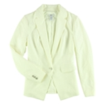 bar III Womens Professional One Button Blazer Jacket