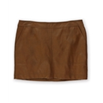 Kensie Womens Pleather Mini Skirt