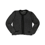 NY Collection Womens Stretch Hook & Eye Cardigan Sweater