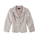 Tahari Womens Metallic Four Button Blazer Jacket