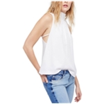 Free People Womens Palm Breeze Mock-Neck Sleeveless Blouse Top