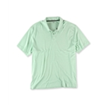 Tasso Elba Mens SS Interlock Solid Rugby Polo Shirt