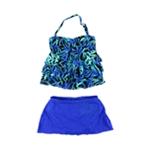 Island Escape Womens Tahiti Bandini Skirt 2 Piece Bandeau