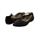Aeropostale Womens Studded Pointy Toe T-Strap Flats
