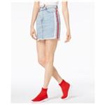 Kendall Kylie Womens Side Stripe Denim Skirt