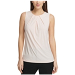 DKNY Womens Pleatneck Pullover Blouse