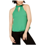 bar III Womens Keyhole Cold Shoulder Blouse