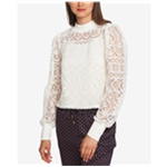 1.STATE Womens Lace Crop Top Blouse