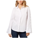 Kensie Womens Oxford Button Up Shirt