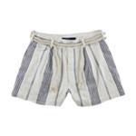 Ralph Lauren Womens Rope Belt Casual Bermuda Shorts