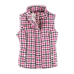 Aeropostale Womens Houndstooth Hooded Puffer Vest