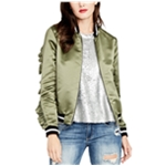Rachel Roy Womens Ruffled Bomber Jacket