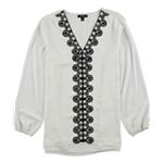 Alfani Womens Lace-Trim Tunic Blouse