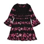 Alfani Womens Floral Bell Sleeve Fit & Flare Dress