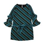 I-N-C Womens Shift Ruffled Dress