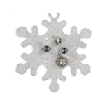 Aeropostale Womens Holiday Silver Stud Earrings