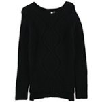 NY Collection Womens Cable Knit Sweater