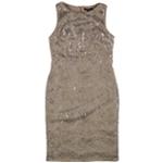 Ralph Lauren Womens Sequined Sheath Dress