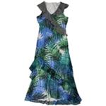 Calvin Klein Womens Printed Maxi Dress